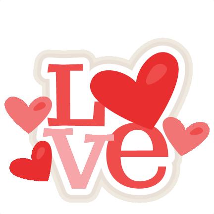 Scrapbook clipart love. Title svg cut file