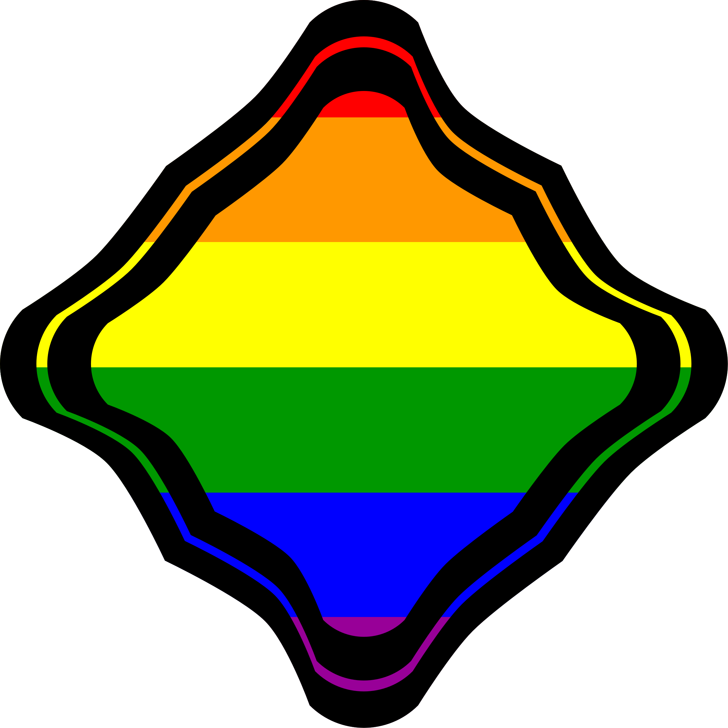 Flag clipart frame. Rainbow diagonal square squiggled