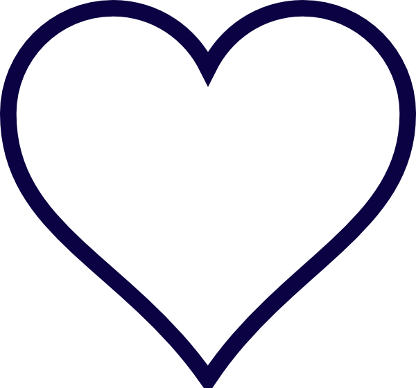 Midnight blue heart silhouettes. Hearts clipart rope