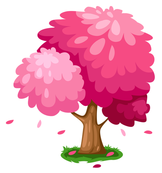 Cute spring trees pinterest. Clipart tree pink