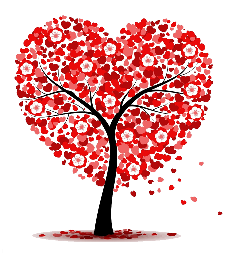 Heart clip art love. Tree clipart valentines day