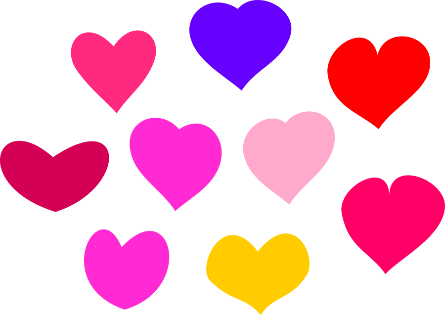 Hearts clipart fruit. Free heart vector art