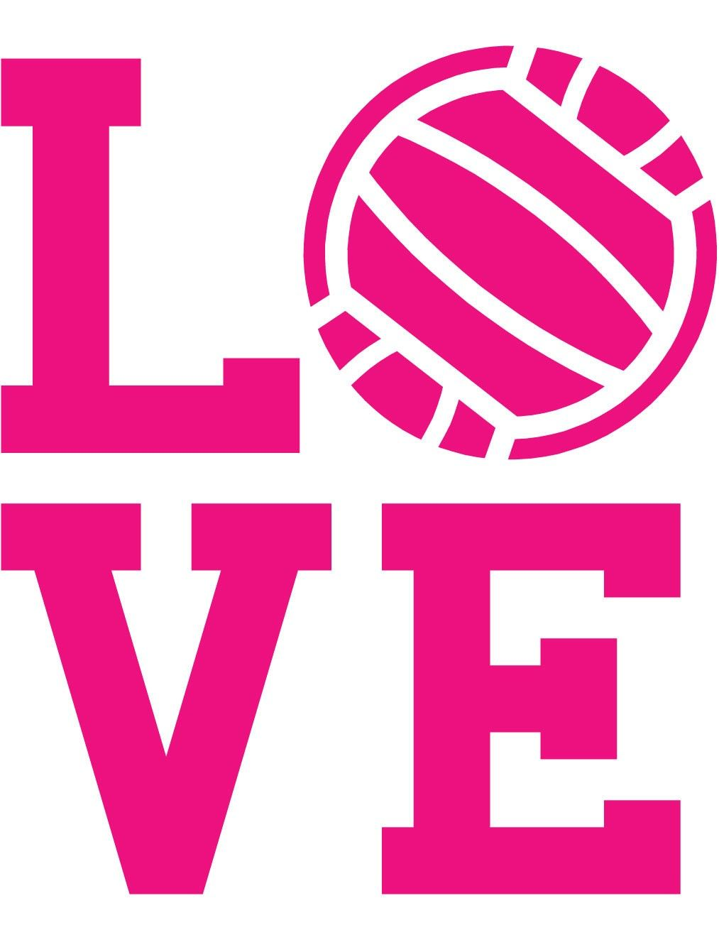 Wall decal sports . Clipart volleyball love