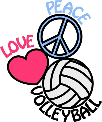 Clipart volleyball love. Free cliparts download clip