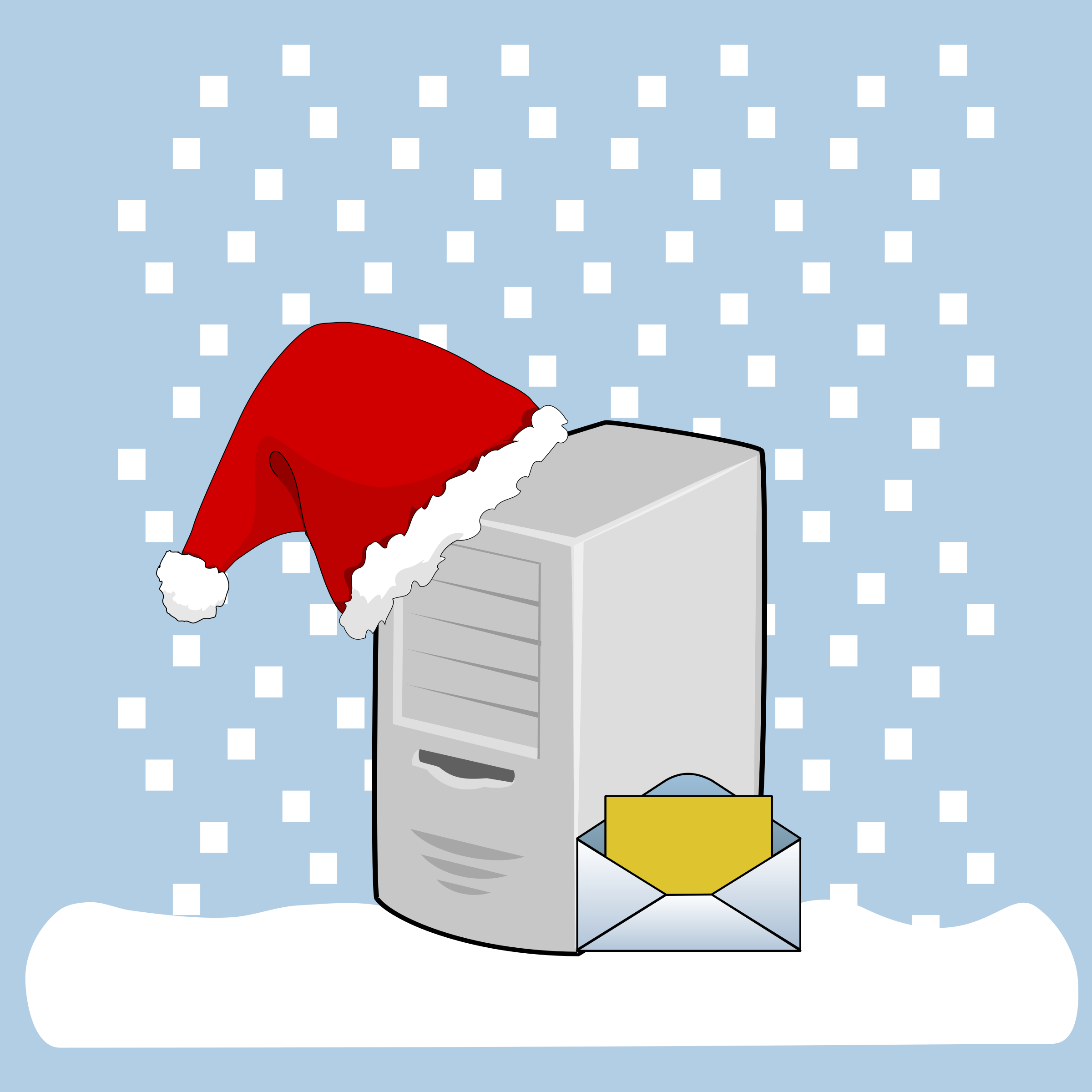 Email server big image. Wednesday clipart winter