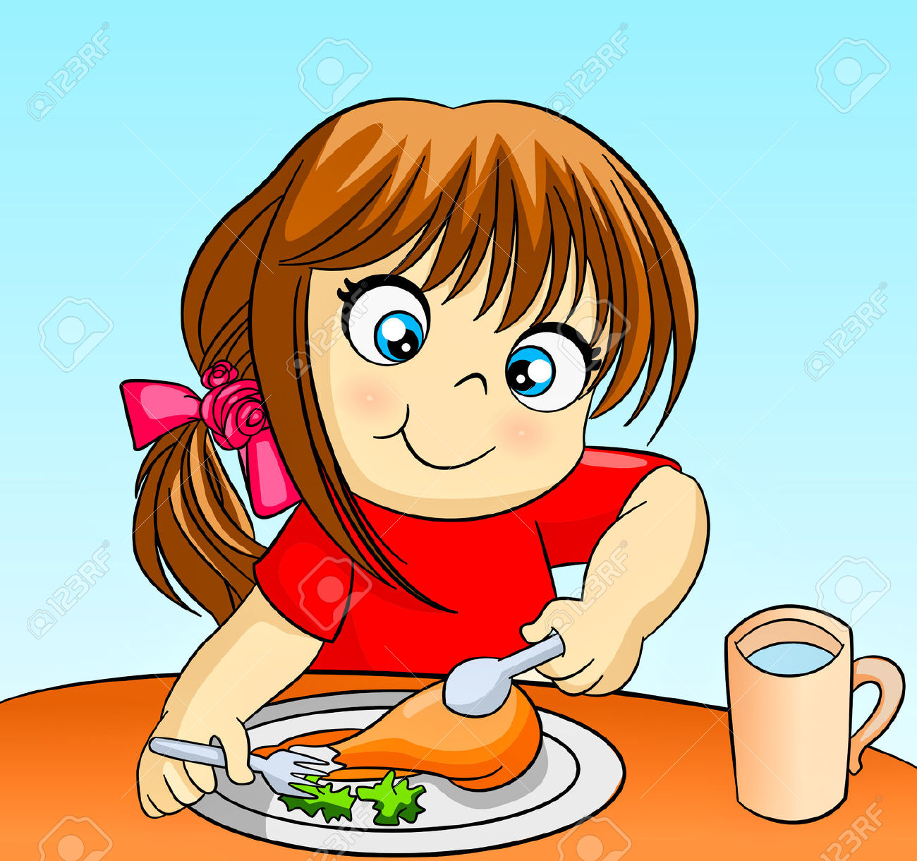 Eat dinner free download. Feast clipart proper eating