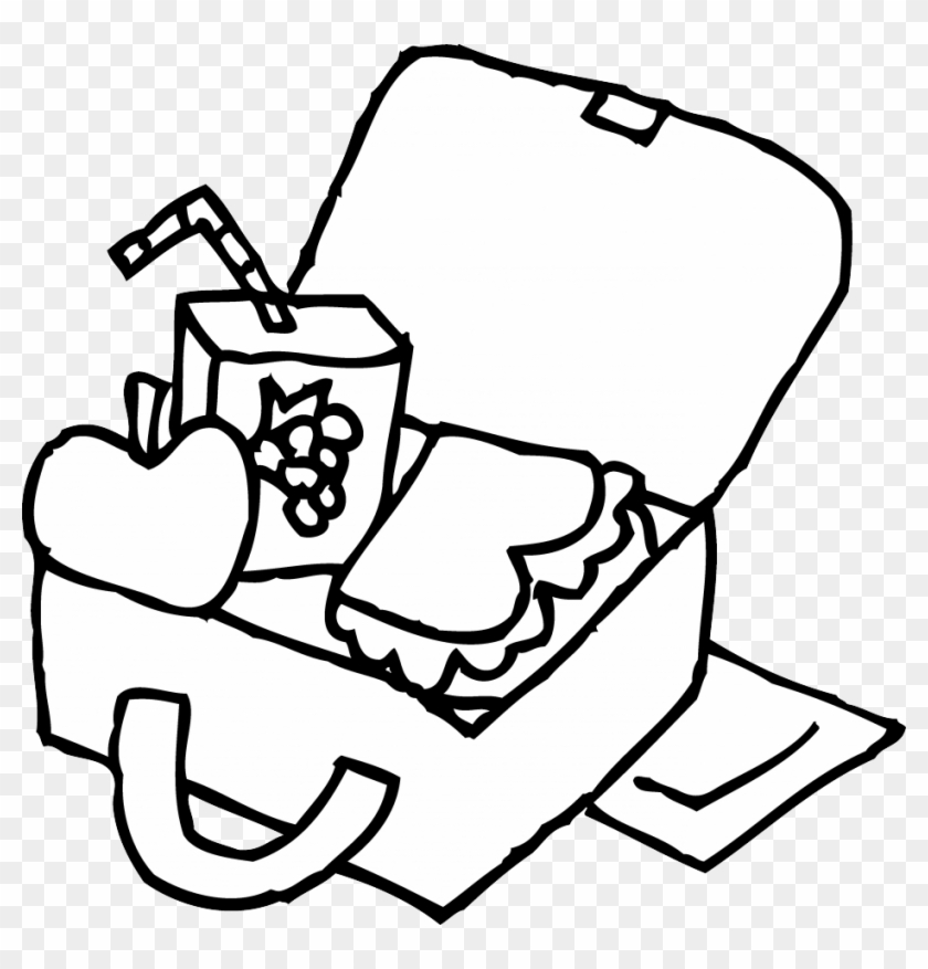 Lunchbox clipart outline. Best lunch box black