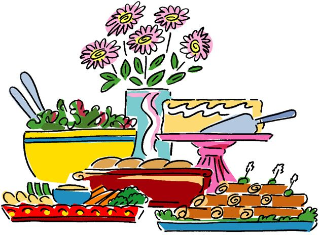 Free table cliparts download. Diner clipart buffet lunch