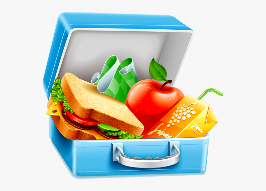 Healthy food png lunch. Lunchbox clipart transparent background