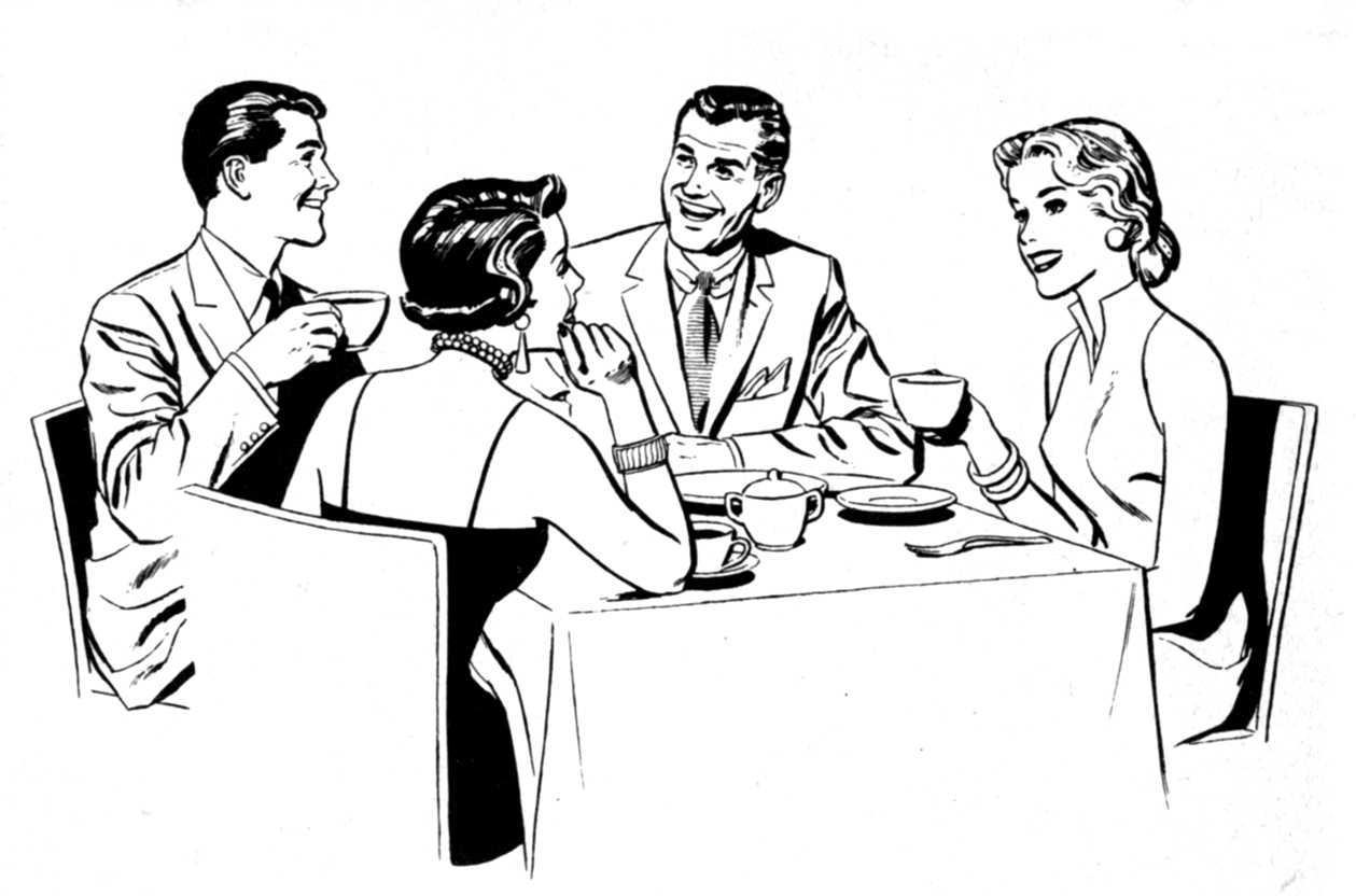 Free team luncheon cliparts. Dinner clipart business dinner