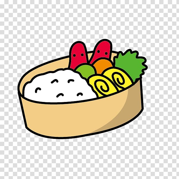 Bento school meal cartoon. Clipart lunch cute