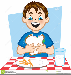 Child free images at. Lunch clipart eating