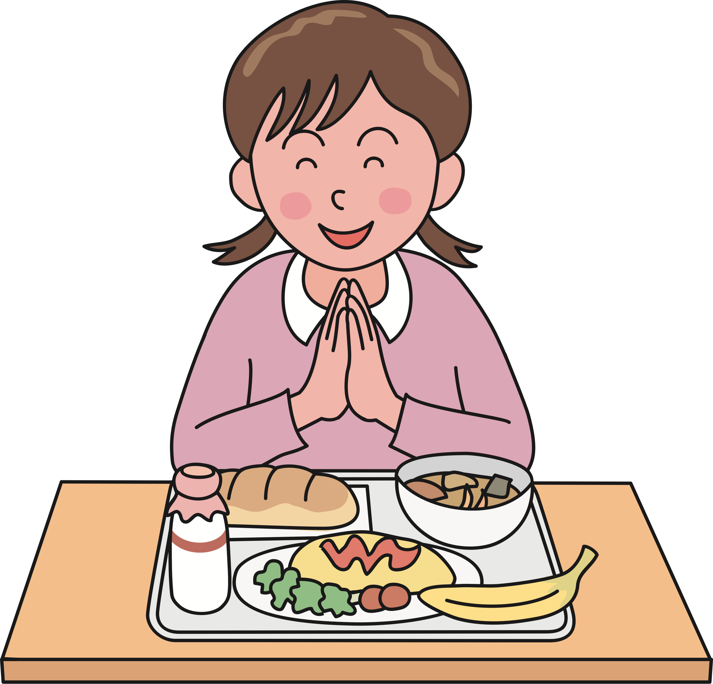 Clipart milk cafeteria. Lunch prayer free on