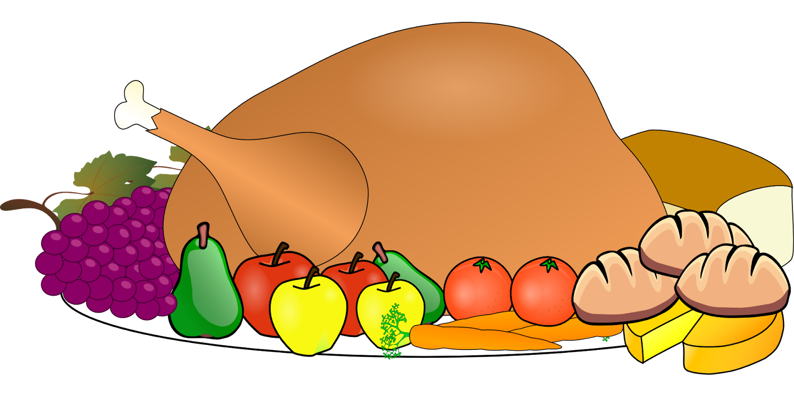 Break food . Clipart lunch home