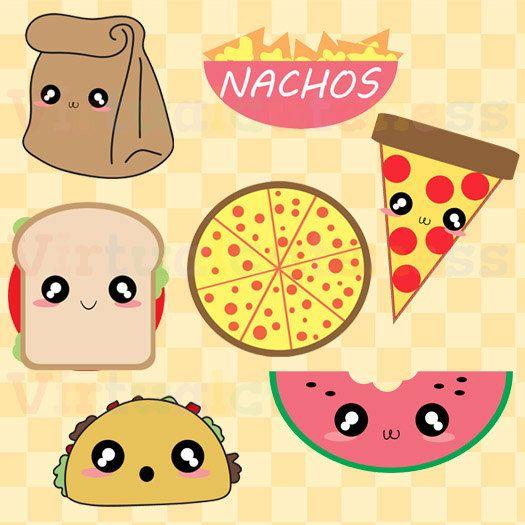 Lunch clipart cute. Food clip art pizza