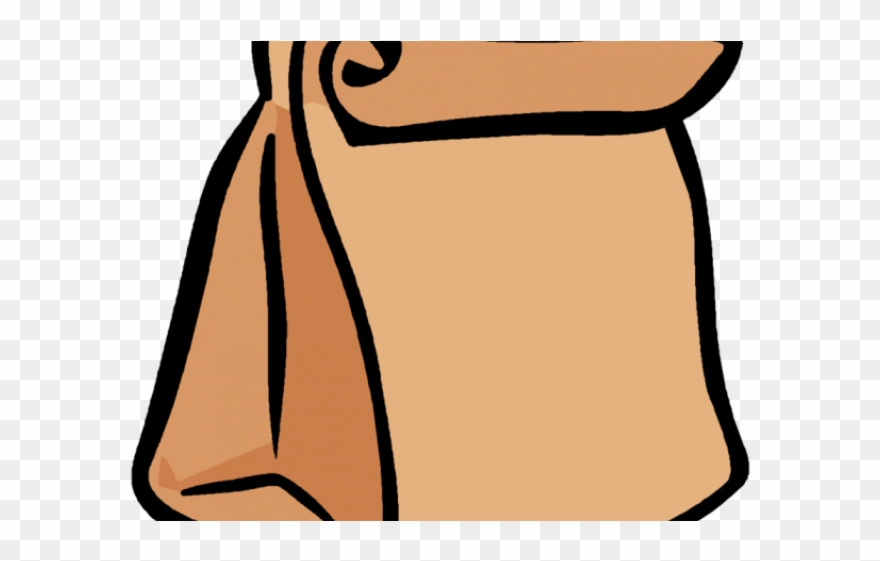 Cafeteria lunch monitor cartoon. Lunchbox clipart paper bag