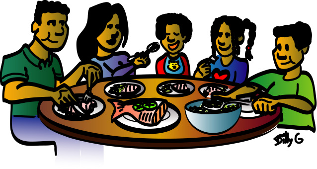 Lunch party clip art. Meal clipart evening meal