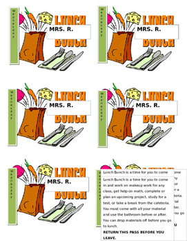 Bunch . Clipart lunch lunch pass