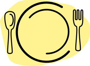 Dinner clipart dinner plate. Lunch free download best