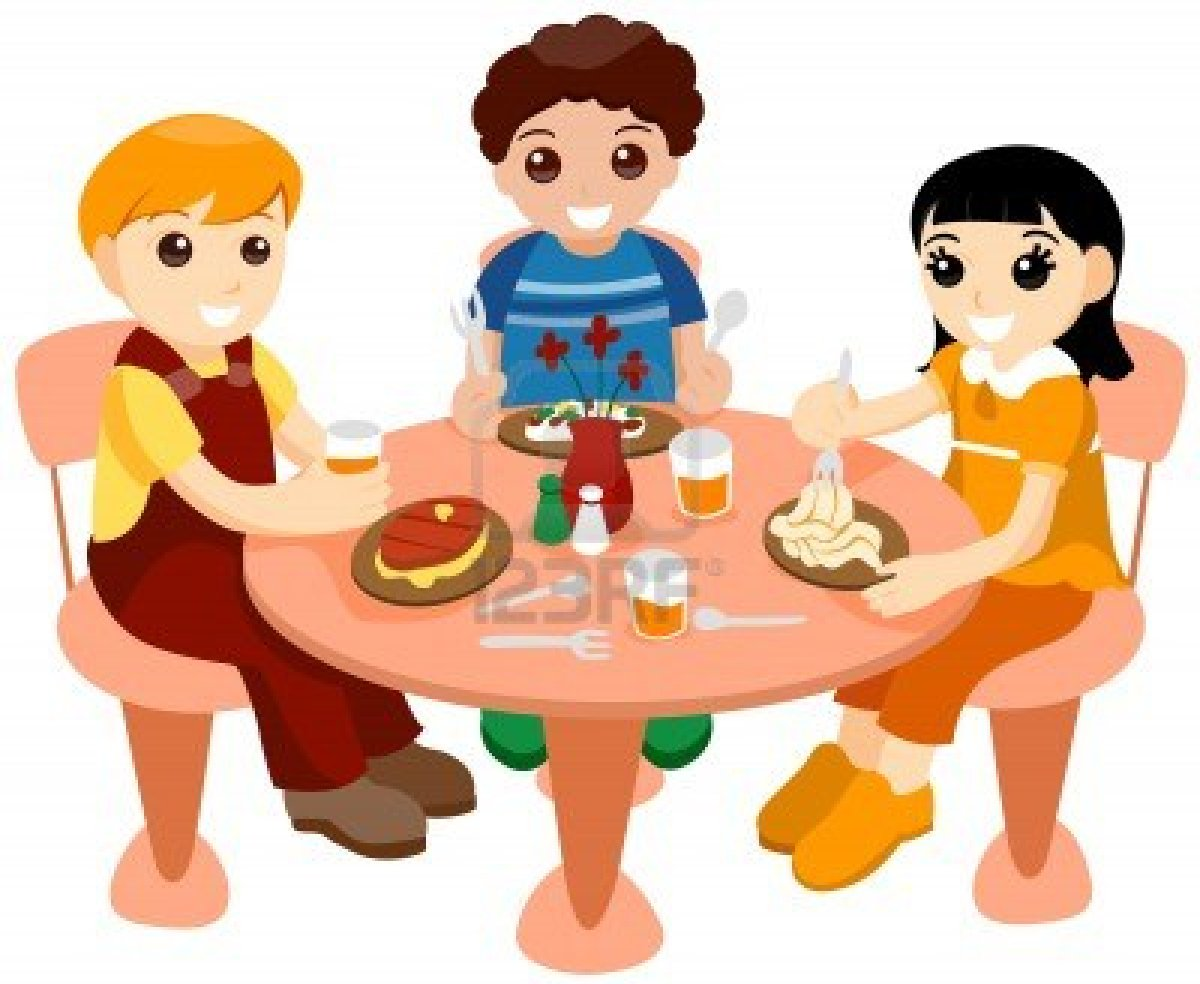 Dinner clipart big meal. Free lunch table cliparts
