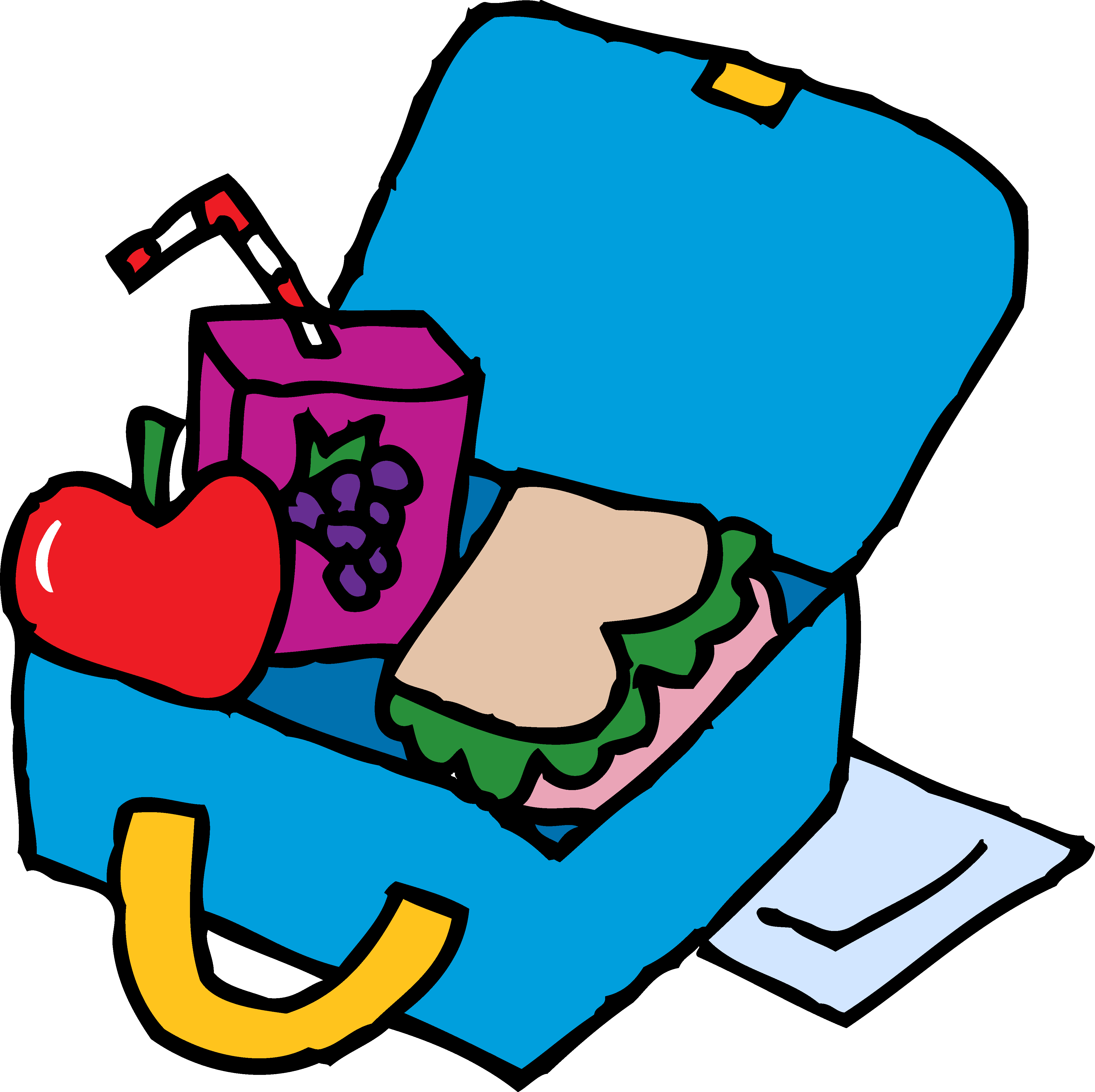 Lunchbox coloring book drawing. Clipart lunch packed lunch