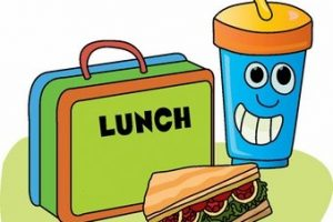 Clipart lunch packed lunch. Station
