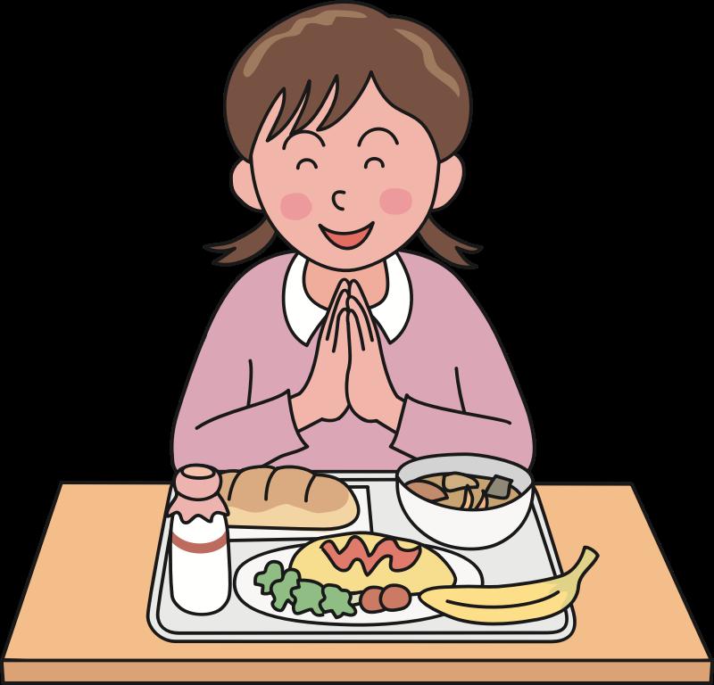 Clipart lunch prayer. Of gratitude medium image