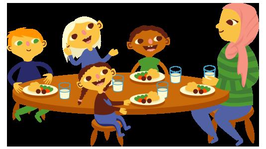 Preschool clipart lunch. Wee kids early learning