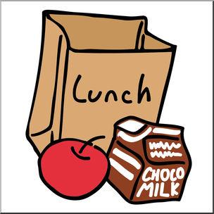 Clip art bag color. Lunch clipart backpack