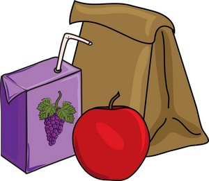 Free snacks tray cliparts. Lunchbox clipart purple
