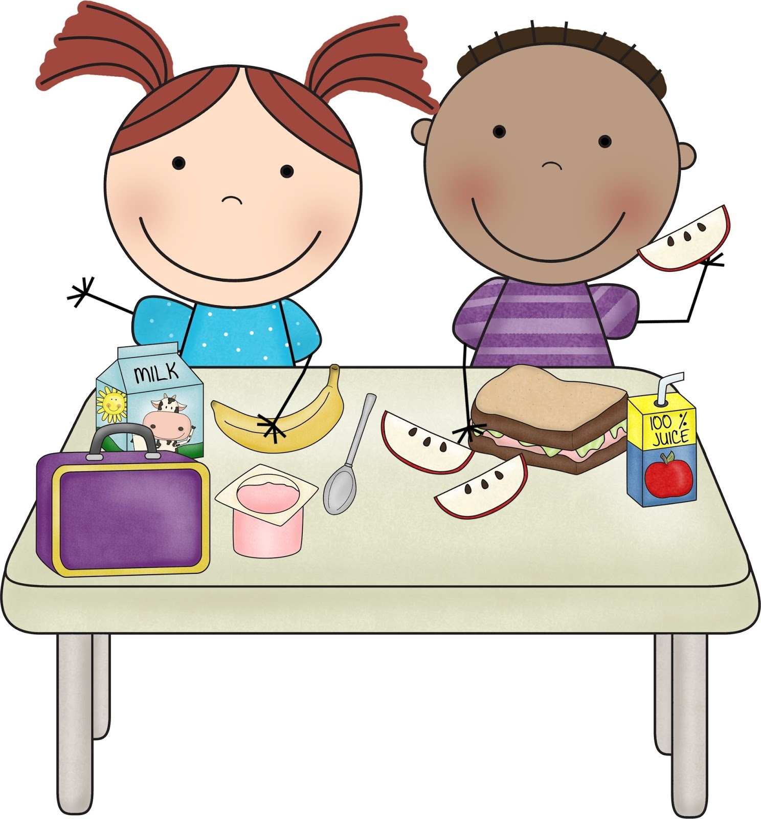 Luncheon clipart student. Of teacher and eating