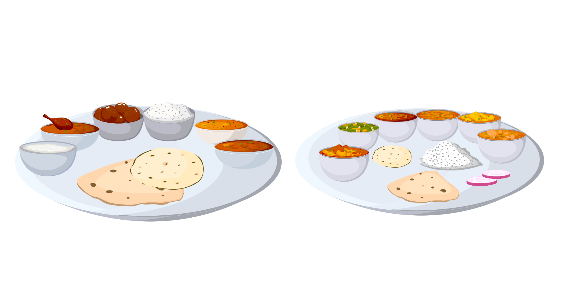 Dosa hub authentic indian. Dishes clipart thali