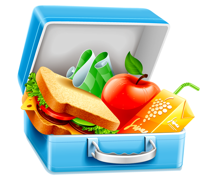 collection of lunch. Healthy clipart tiffin