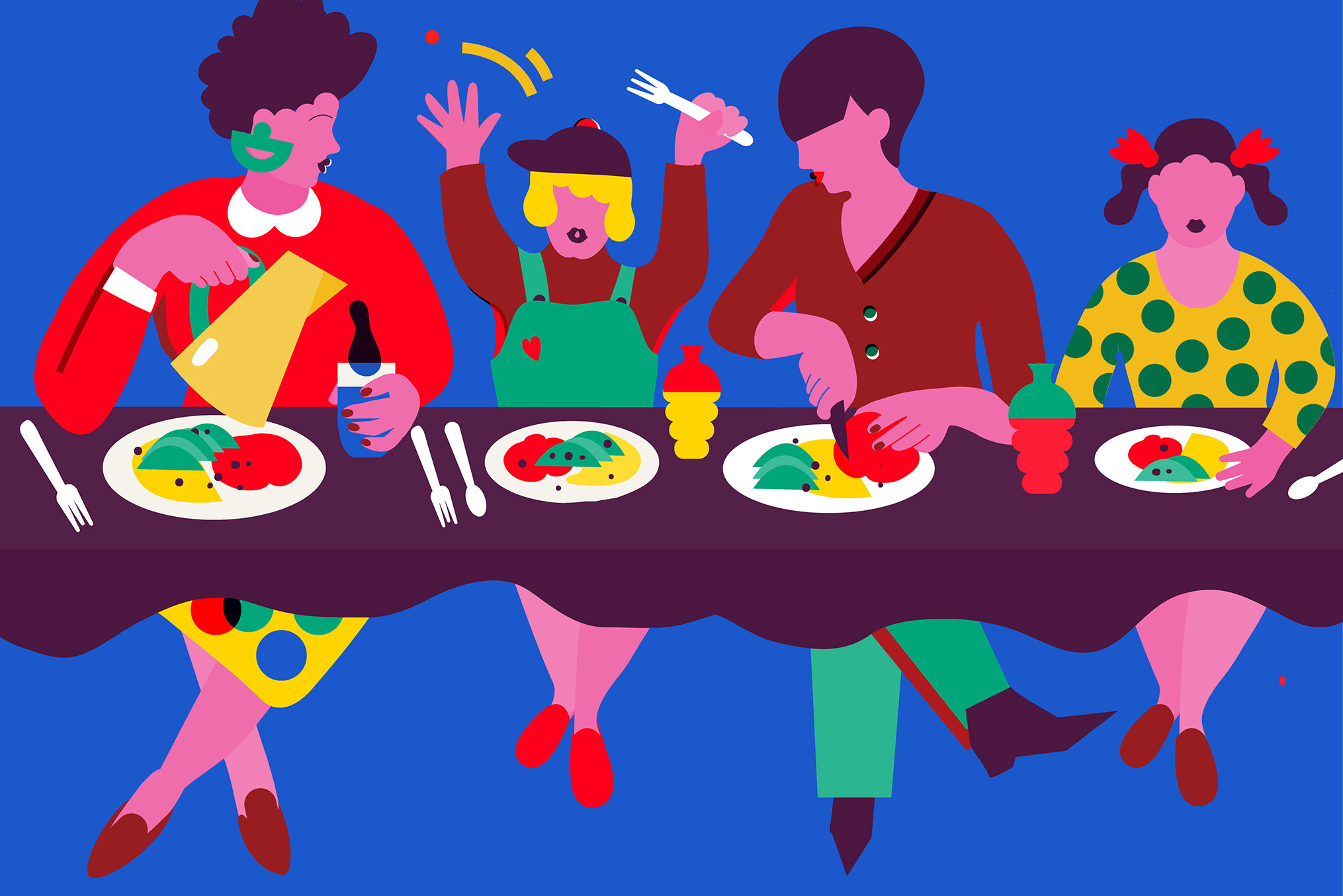 The table well guides. Restaurants clipart family dinner time