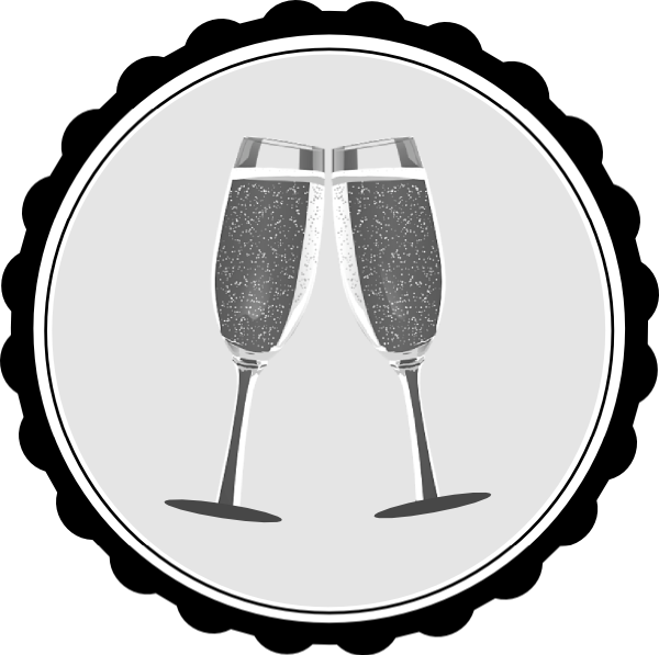 Champagne clip art at. Clipart lunch wedding breakfast
