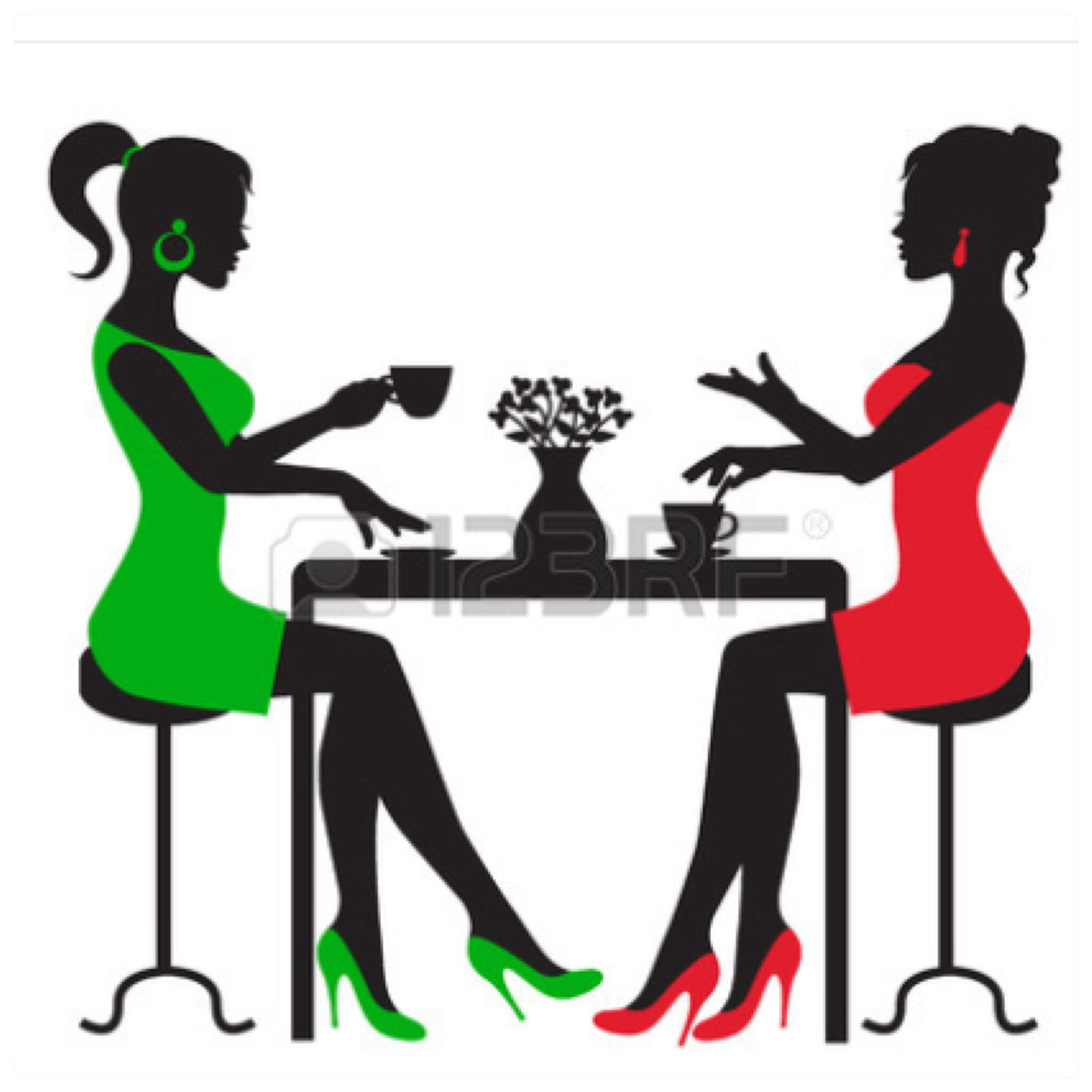 rf com silhouette. Clipart lunch woman