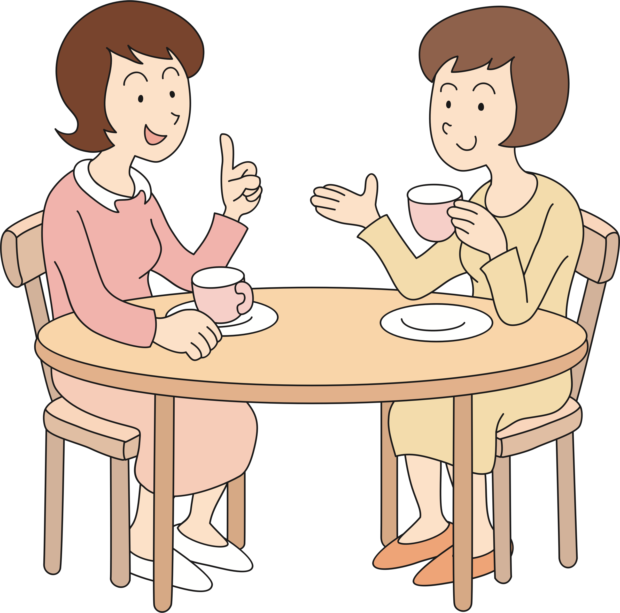 Clipart lunch woman. Gossiping women big image