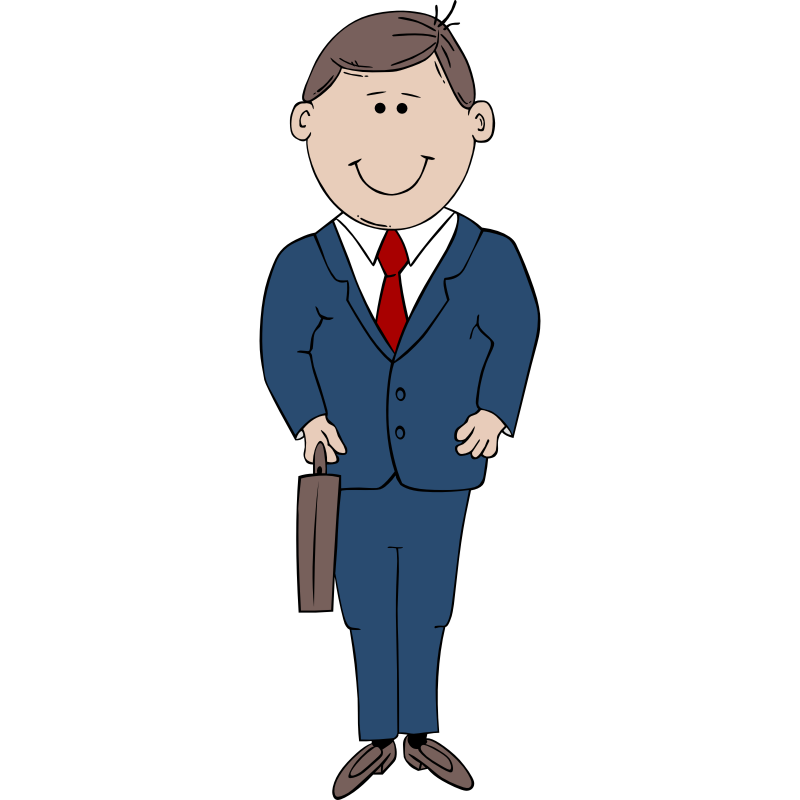 Clipart man. In suit clip art