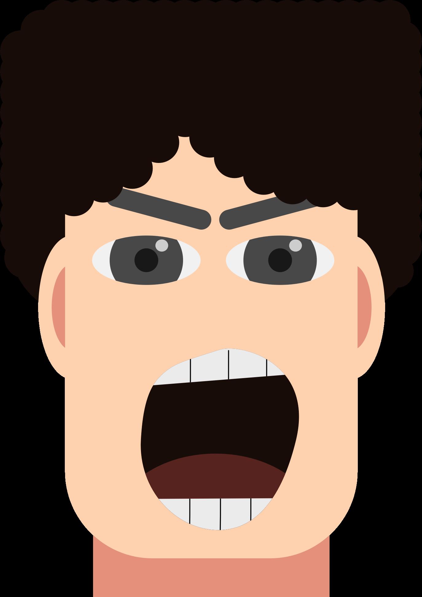Angry man shouting big. Iceberg clipart anger