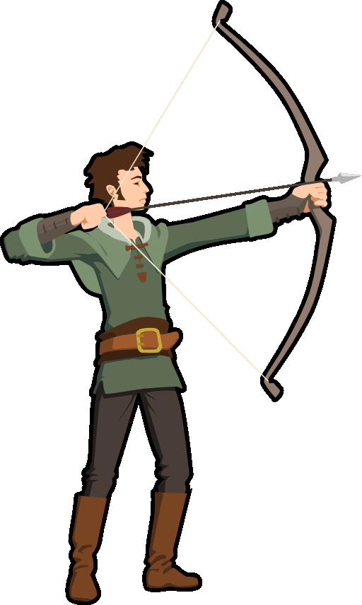 Clipart man archery. Archer i royalty free