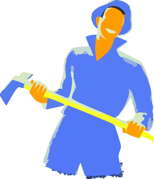 Farmers clipart man. Farmer holding axe clip