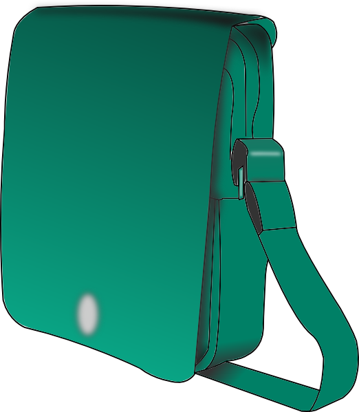 Luggage clipart man. Green handbag clip art