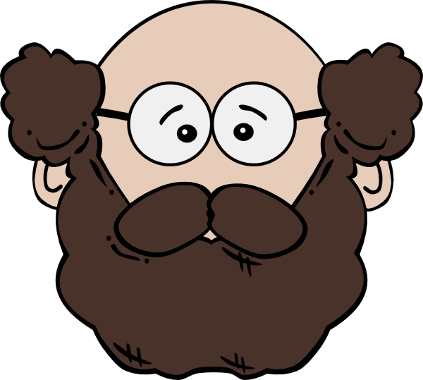 Moustache clipart long mustache. Balding man with and