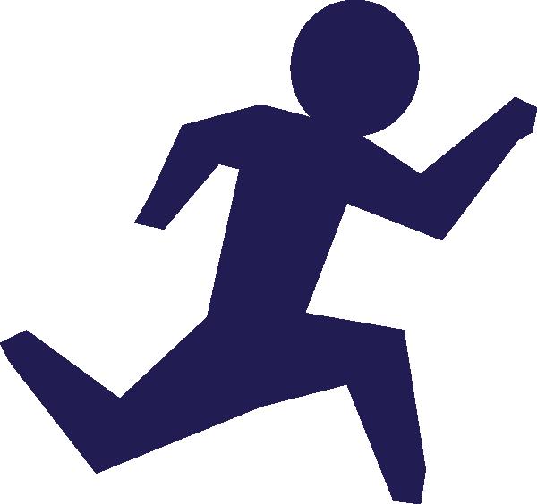Race clipart clip art. Running man blue at