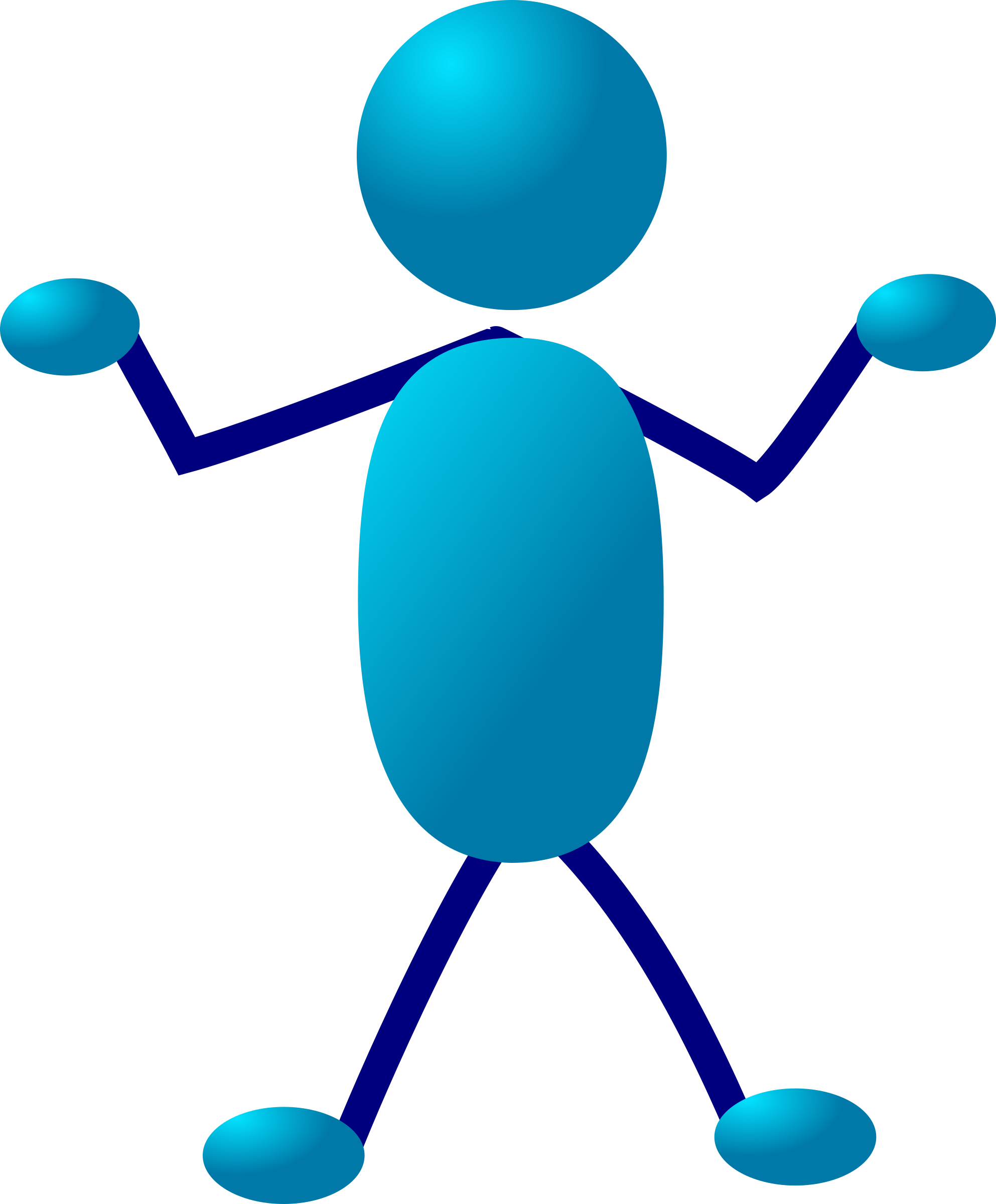 One clipart single number. Stickman big image png