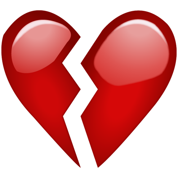 Emoji hearts png. Broken red heart when