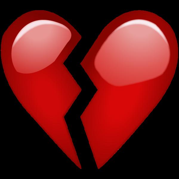 Broken red emoji png. Mailbox clipart heart