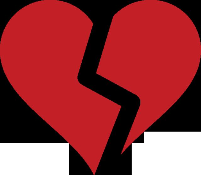 Heart symbol different clip. Person clipart broken hearted