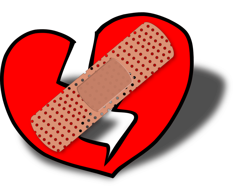 Experience a heart after. People clipart broken hearted