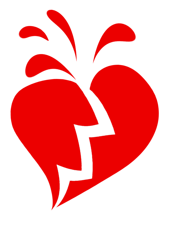 ways to recover. People clipart broken hearted